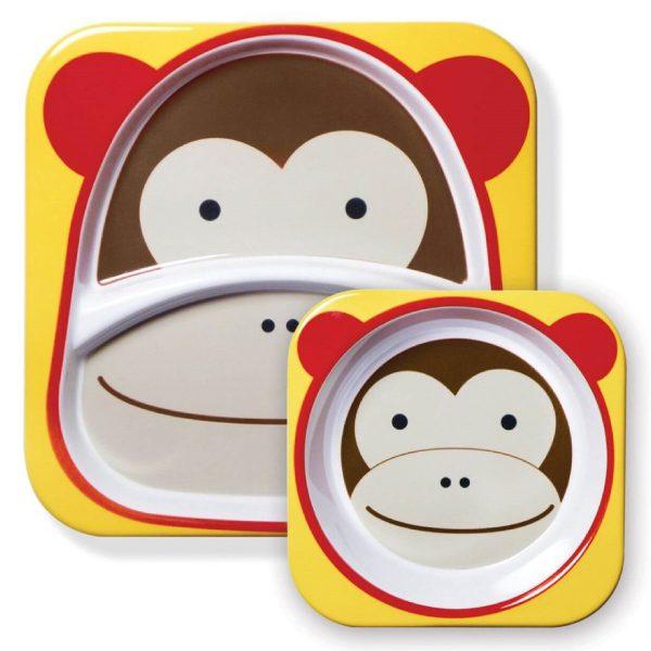 Skip Hop tabak ve kase seti maymun