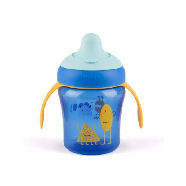 Suavinex Damla Akıtmaz Eğitim Bardağı Booo Mavi (4 Ay+) - (200 ml)