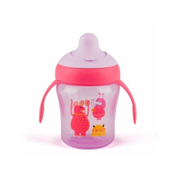Suavinex Damla Akıtmaz Eğitim Bardağı Booo Mor (6 Ay+) - (200 ml)