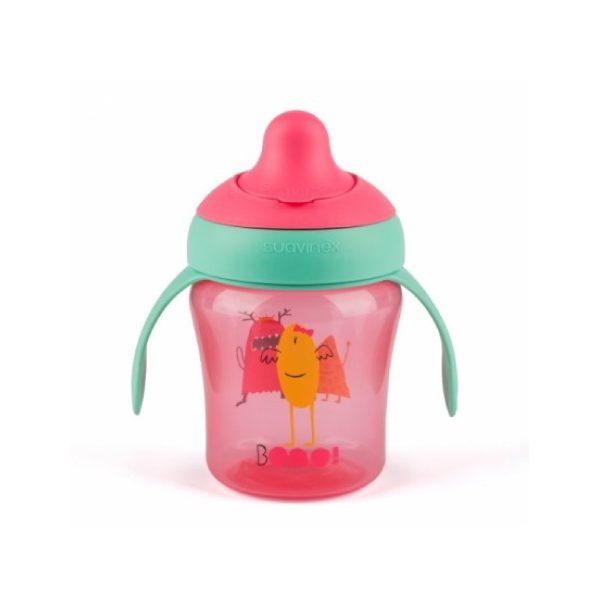 Suavinex Damla Akıtmaz Eğitim Bardağı Booo Pembe (4 Ay+) - (200 ml)