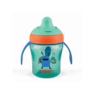 Suavinex Damla Akıtmaz Eğitim Bardağı Booo Yeşil (4 Ay+) - (200 ml)