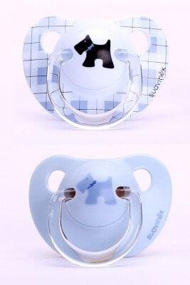 Suavinex Evolution Ortodontik Silikon Emzik - SiyahKöpekli ( + 6 ay) 2 li