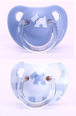 Suavinex Evolution Ortodontik Silikon Emzik - BeyazKöpekli ( + 6 ay) 2 li