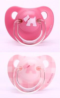 Suavinex Evolution Ortodontik Silikon Emzik Pink - BeyazKöpekli ( + 6 ay) 2 li