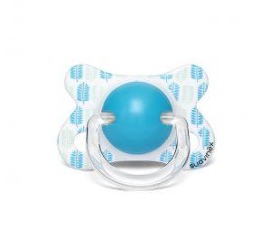 Suavinex Fusion Fizyolojik Silikon Emzik ( -2 aydan 4 ay) Mavi-Butterfly