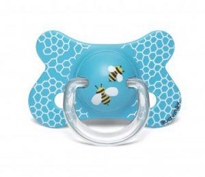 Suavinex Fusion Ortodontik Silikon Emzik ( 4-18 ay) Butterfly Mavi
