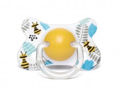 Suavinex Fusion Ortodontik Silikon Emzik ( 4-18 ay) Butterfly Sarı
