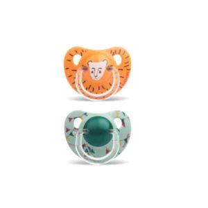 Suavinex Ortodontik Silikon Emzik - Le Cirque Lion ( 18 + ay) 2 li