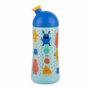 Suavinex Sport Cup Suluk Booo Mavi - Bastır Çek Ağızlıklı (18+ ay) - (360 ml)