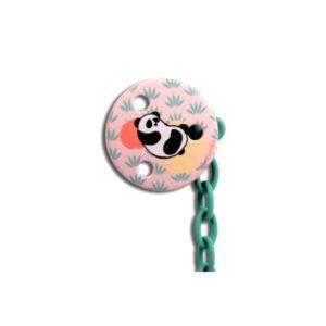 Suavinex Total Look Yuvarlak Emzik Zinciri Panda (Pembe)