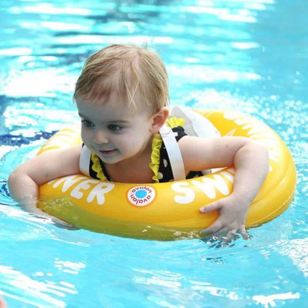 Swimtrainer Freds Swim Academy (4 - 8 Yaş) Yüzme Simidi (Sarı)