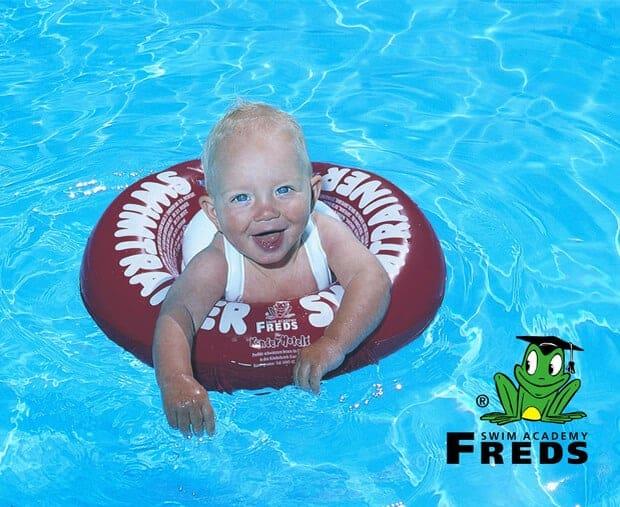 Swimtrainer Freds Swim Academy (3 Ay - 4 Yaş) Yüzme Simidi (Kırmızı)