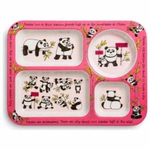 tyrrell katz bölmeli yemek tabağı panda