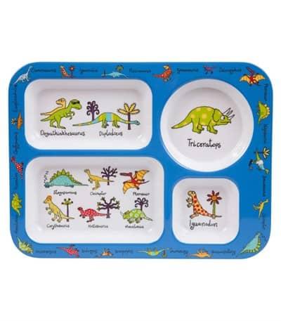 Tyrrell Katz Bölmeli Yemek Tabak Dinozor