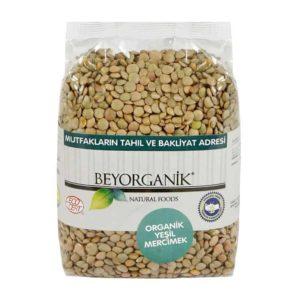 Beyorganik Organik Yeşil Mercimek (500 gr)