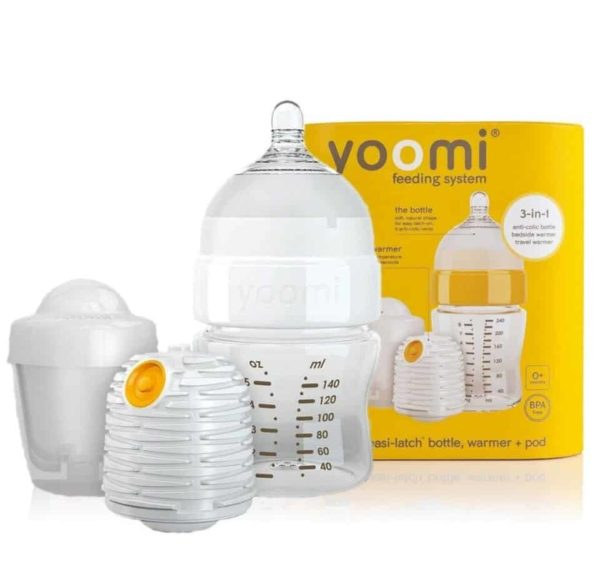 Yoomi 5OZ (140ml) Biberon + Isıtıcı + Yavaş Akışkan Emzik + Mikrodalga Isıtma Haznesi