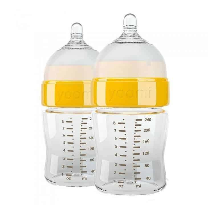 Yoomi 240 ml Biberon & Yavaş Akışkan Emzik (2li Set)