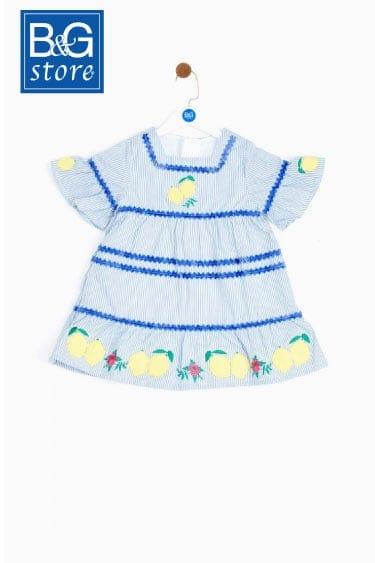 bg store kız bebek çizgili elbise