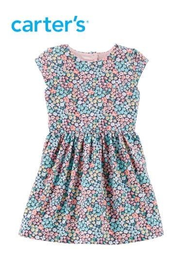 cartersoshkosh kız çocuk çiçekli elbise