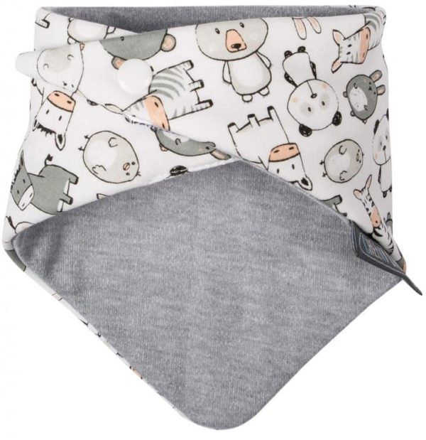 Cheeky Chompers Neckerbib Panda Pals & Grey Stripes4