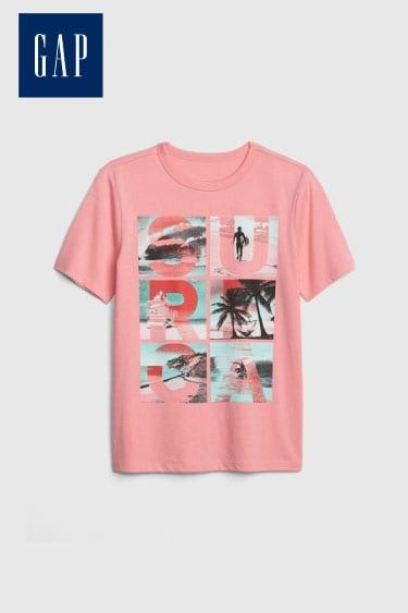 gap erkek çocuk grafik kısa kollu t shirt