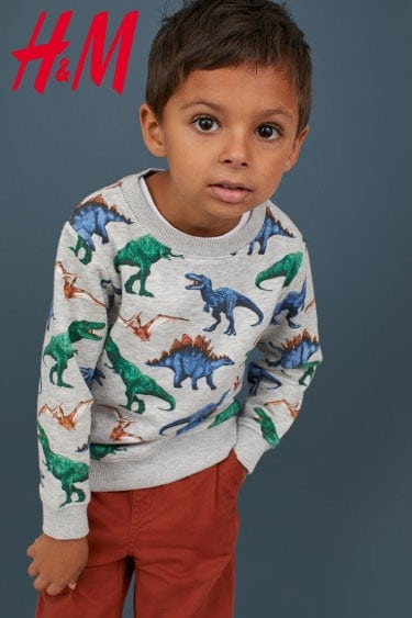 hm erkek desenli sweatshirt