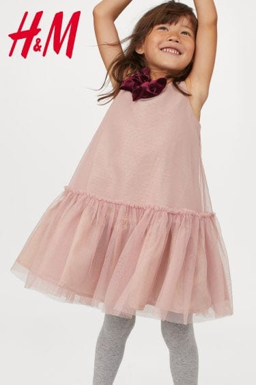 hm fiyonklu elbise