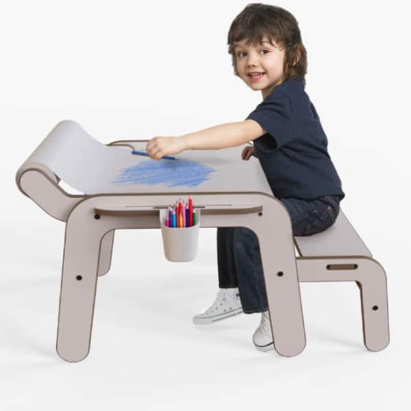 Mamatoyz Masa Aktivite ve Çalışma Masası   Beyaz Standart Boy 1
