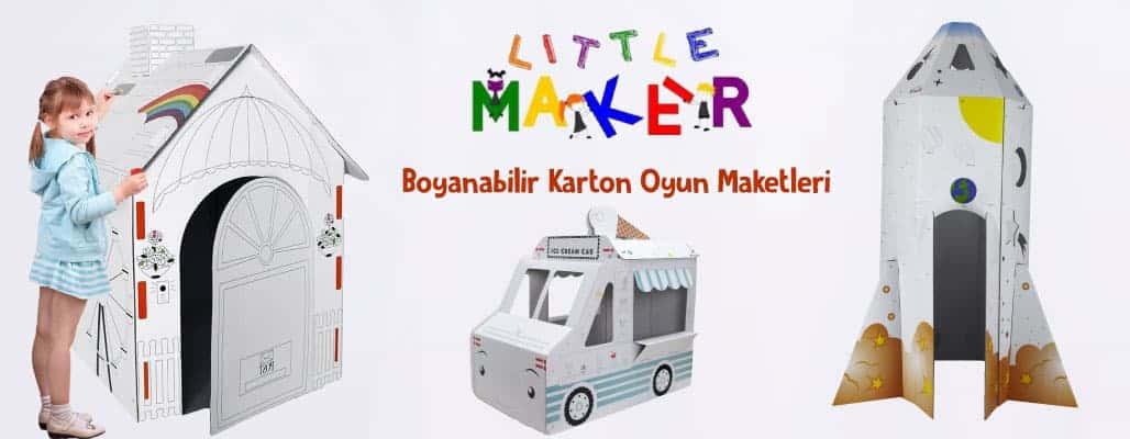 little maker boyanabilir karton oyun maketleri