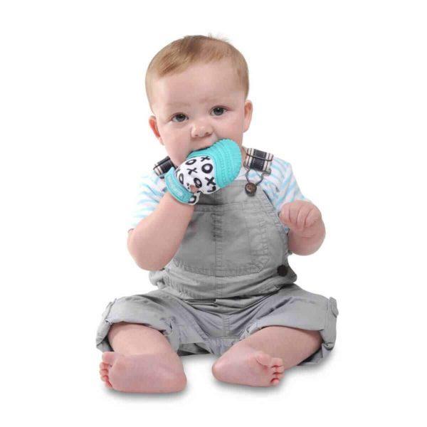 mouthie mitten diş kaşıyıcı eldiven mavi 2