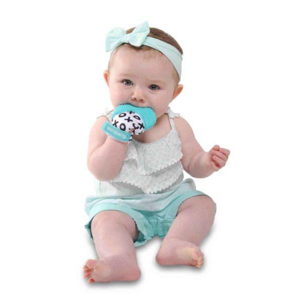 mouthie mitten diş kaşıyıcı eldiven mavi 3