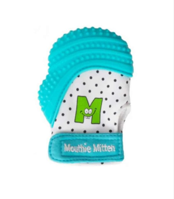 mouthie mitten diş kaşıyıcı eldiven mavi