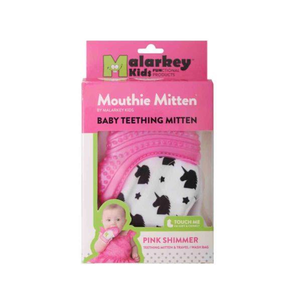 mouthie mitten diş kaşıyıcı eldiven pembe genel 3