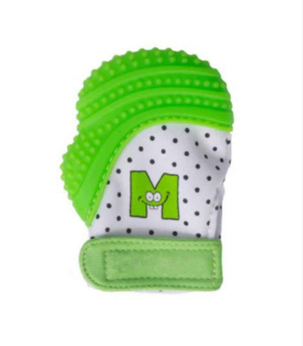 mouthie mitten diş kaşıyıcı eldiven yeşil