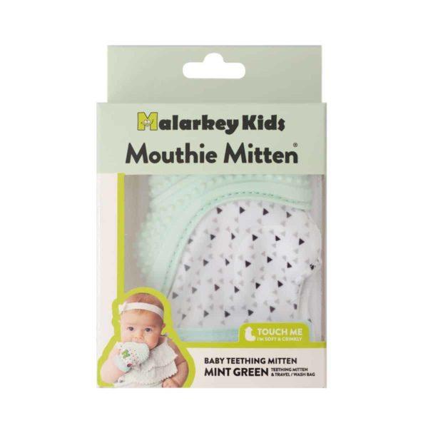 mouthie mitten diş kaşıyıcı eldiven nane yeşili genel 3