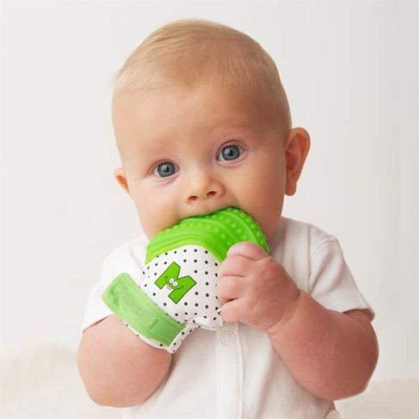 mouthie mitten diş kaşıyıcı eldiven yeşil 3