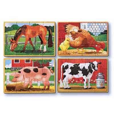 Melissa Doug ahşap yapboz seti çiftlik hayvanları