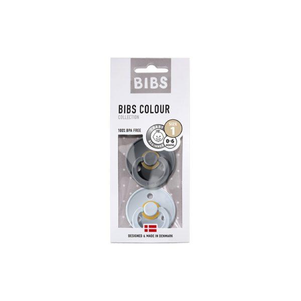 Bibs İkili Kauçuk Emzik Iron Baby Blue