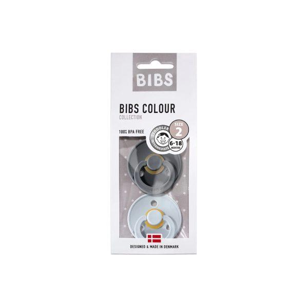 Bibs İkili Kauçuk Emzik Iron Baby Blue 3
