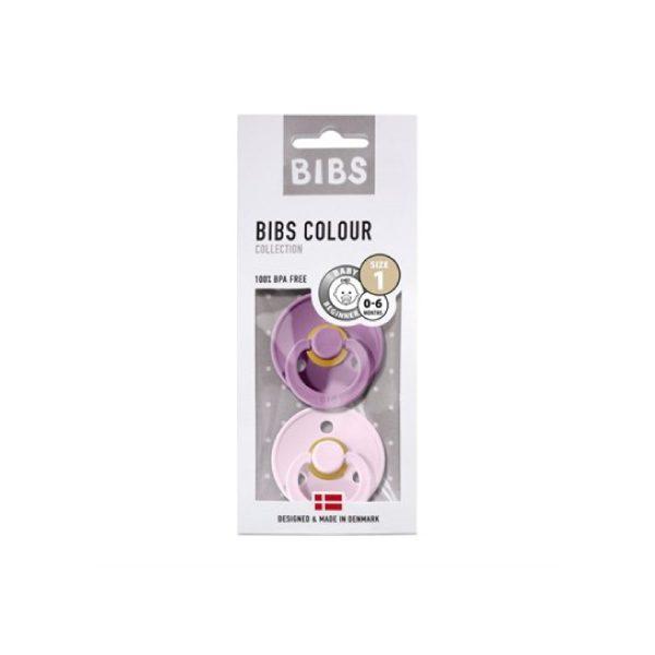 Bibs İkili Kauçuk Emzik Lavender Baby Pink