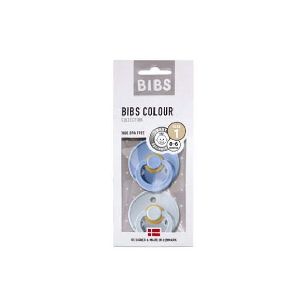 Bibs İkili Kauçuk Emzik Sky Blue Baby Blue