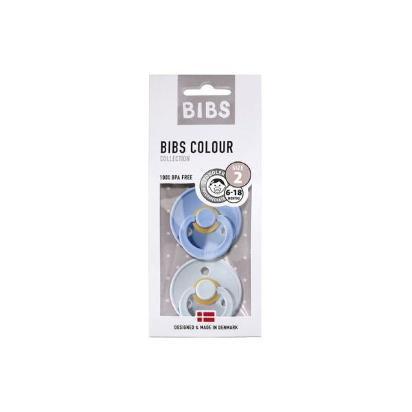 Bibs İkili Kauçuk Emzik Sky Blue Baby Blue 3