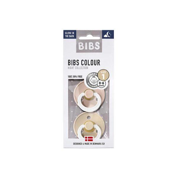 Bibs İkili Kauçuk Emzik Blush Night / Vanilla Night