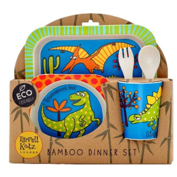 Tyrrell Katz Bambu Çocuk Yemek Seti Dino