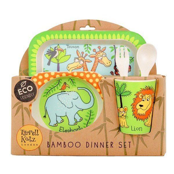 Tyrrell Katz Bambu Çocuk Yemek Seti orman hayvanları 2