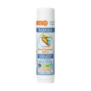 Badger Clear Zinc Kokusuz Güneş Kremi Stick SPF35
