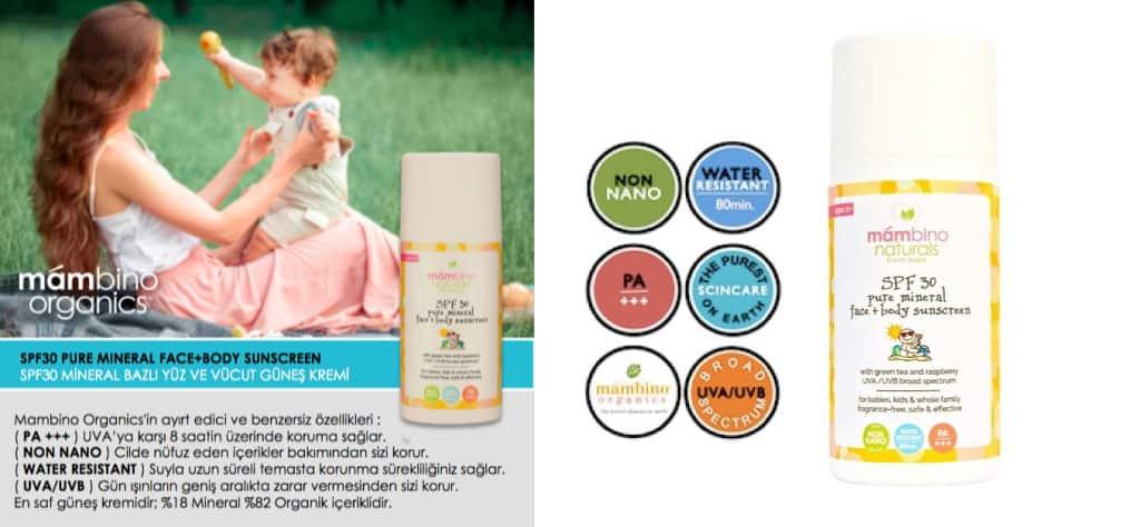 Mambino Organics Mineral Bazlı Bebek & Çocuk Güneş Koruyucu Krem
