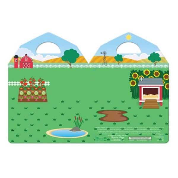 Melissa Doug Kabartmalı Tak Çıkar Çıkartma Seti Çiftlik 2