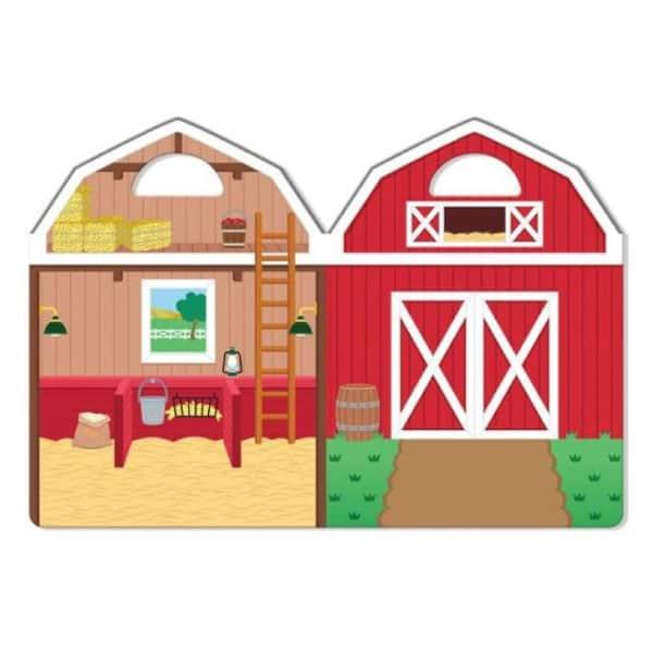 Melissa Doug Kabartmalı Tak Çıkar Çıkartma Seti Çiftlik 3