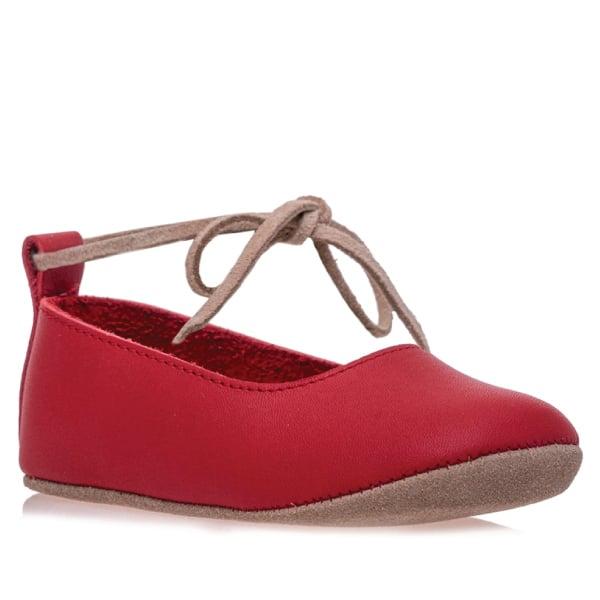 Merli&Rose Deri Bebek Bağcıklı Ayakkabı Kırmızı 2